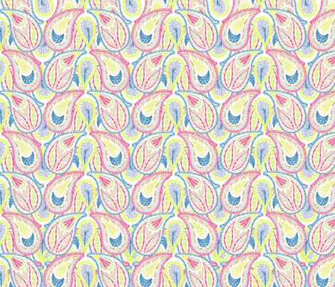 Rainbow Paisley fabric by rachel_alice on Spoonflower - custom fabric