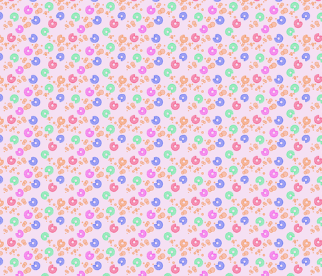 Donuts for Breakfast fabric by jnifr on Spoonflower - custom fabric