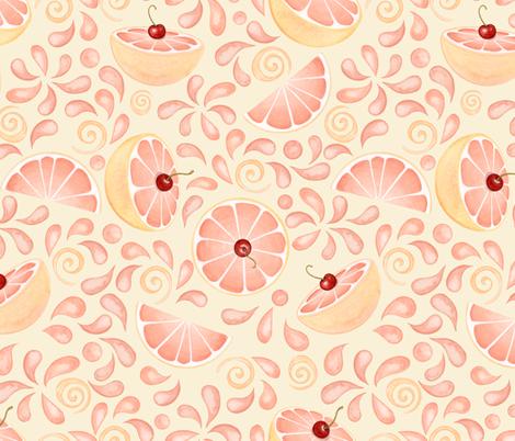 Sour_Puss_Cream fabric by nicoletamarin on Spoonflower - custom fabric