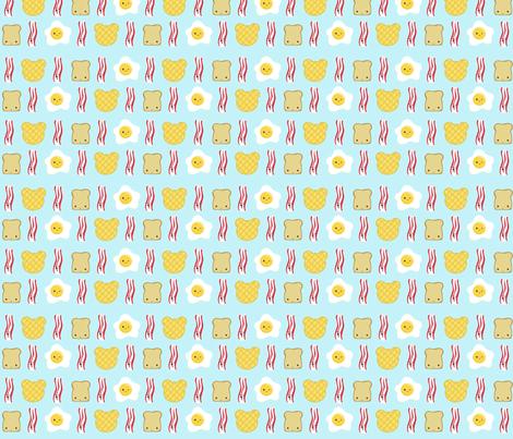 Bear Waffles, Eggs, and Toast, Oh MY! fabric by pattyvariboa on Spoonflower - custom fabric