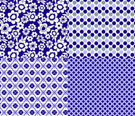 Purple Sampler fabric by melaniesullivan on Spoonflower - custom fabric