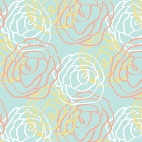Garden Party Collection- Small Blue Pattern