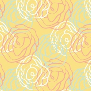Garden Party Collection- Small Yellow Pattern