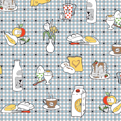 Sunday Morning fabric by annosch on Spoonflower - custom fabric