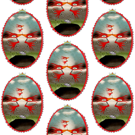 Jurassic circus fabric by rupydetequila on Spoonflower - custom fabric