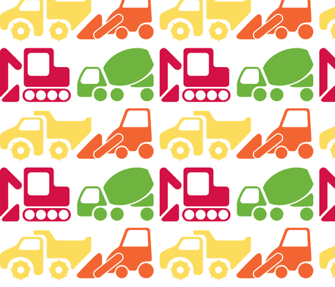 Construction Vehicles fabric by aninkling on Spoonflower - custom fabric