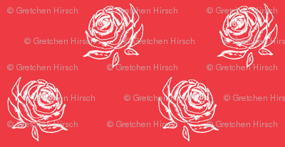 Rose Sketch on Red