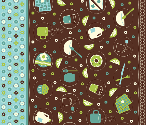 What's For Breakfast? fabric by jennartdesigns on Spoonflower - custom fabric