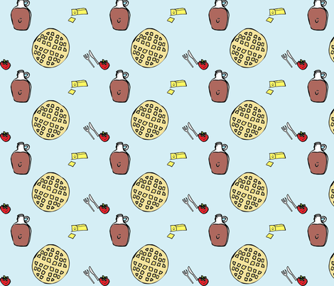 breakfast_fabric fabric by madeofpaperandthings_etsy_com on Spoonflower - custom fabric