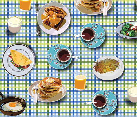 Yummy Breakfast fabric by ladycavendish on Spoonflower - custom fabric