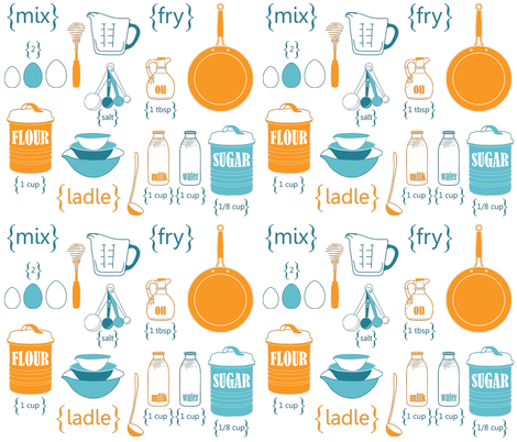 Let's make crepes for breakfast!   fabric by newmomdesigns on Spoonflower - custom fabric