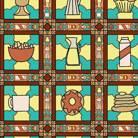 Petit Déjeuner fabric by eleanorharbison on Spoonflower - custom fabric