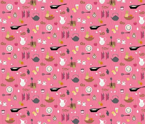 Retro Breakfast fabric by minimiel on Spoonflower - custom fabric