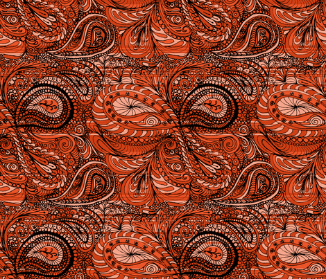 henna_paisley fabric by wiccked on Spoonflower - custom fabric