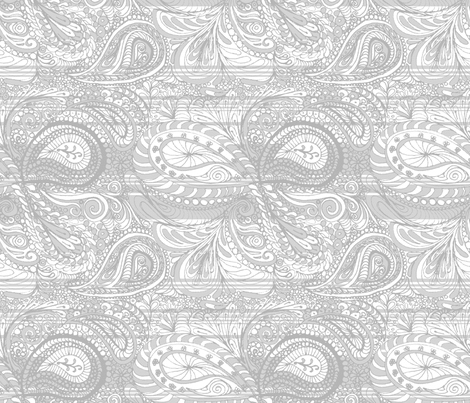 snow_paisley fabric by wiccked on Spoonflower - custom fabric