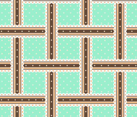 Chocolate Box - Peppermint fabric by inscribed_here on Spoonflower - custom fabric