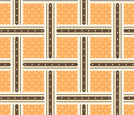Chocolate Box - Orange fabric by inscribed_here on Spoonflower - custom fabric