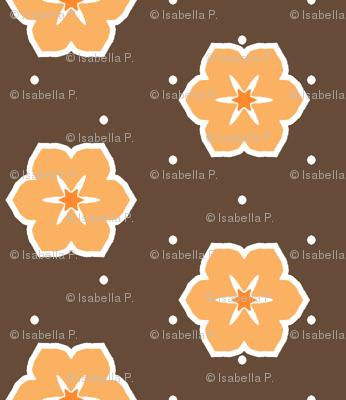 Dark Chocolate Floral - Orange