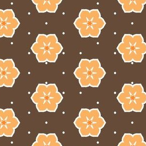 Dark Chocolate Floral - Orange