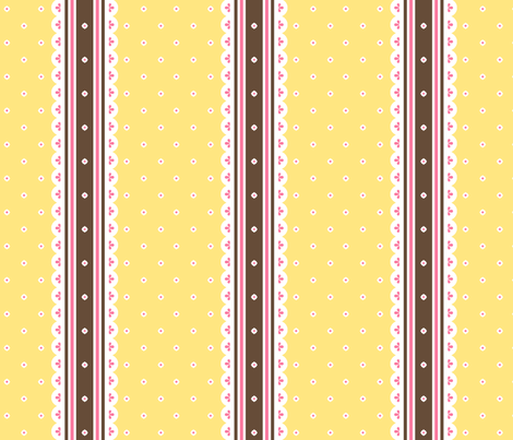 Chocolate Ribbon - Banana fabric by inscribed_here on Spoonflower - custom fabric