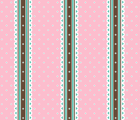 Chocolate Ribbon - Fairy Floss fabric by inscribed_here on Spoonflower - custom fabric