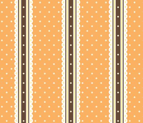 Chocolate Ribbon - Orange fabric by inscribed_here on Spoonflower - custom fabric