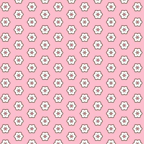 White Chocolate Floral - Fairy Floss fabric by inscribed_here on Spoonflower - custom fabric