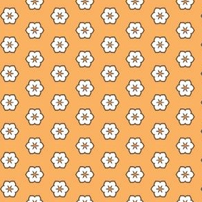 White Chocolate Floral - Orange
