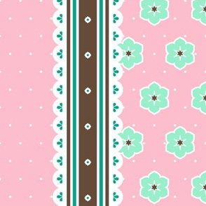 Chocolate Border Ribbon - Fairy Floss