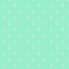 Dot Floral - Peppermint
