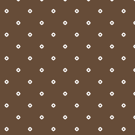 Dot Floral -  Chocolate fabric by inscribed_here on Spoonflower - custom fabric