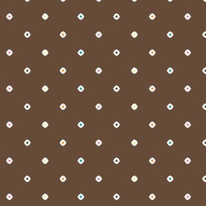Dot Floral - Chocolate Mix