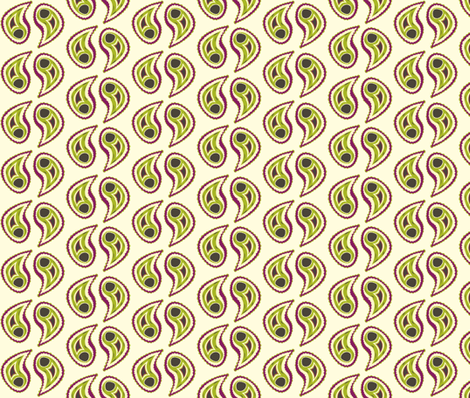 Paisley fabric by featheredneststudio on Spoonflower - custom fabric