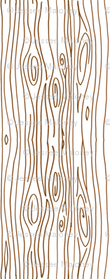Wonky Wood - Brown