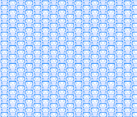 Bunnies - Repeat - Blues fabric by jesseesuem on Spoonflower - custom fabric