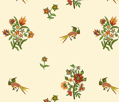 1780 Indienne Polychrome Print fabric by americanduchess on Spoonflower - custom fabric
