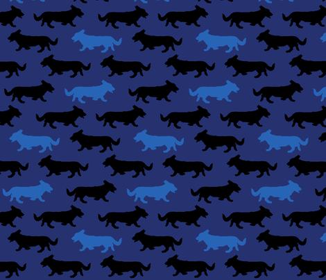 Blue Camo Cardigans fabric by rusticcorgi on Spoonflower - custom fabric