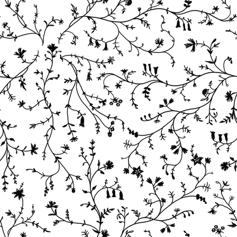 1770 Vines and Florals fabric by americanduchess on Spoonflower - custom fabric