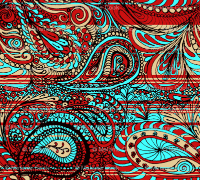 Paisley Bright Wiccked Spoonflower