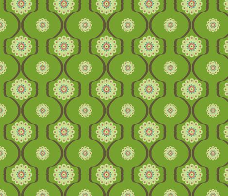 graphique_flower_vert fabric by nadja_petremand on Spoonflower - custom fabric