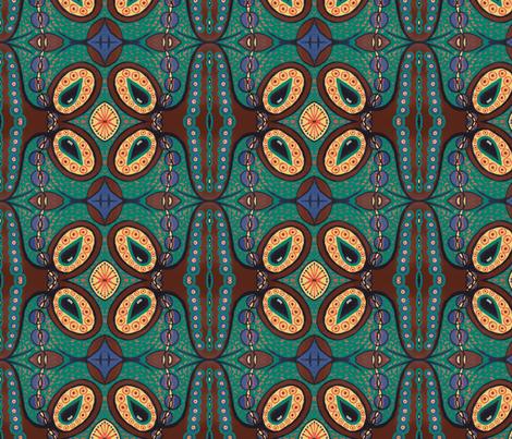 Teal/brown tear pod fabric by tallulah11 on Spoonflower - custom fabric