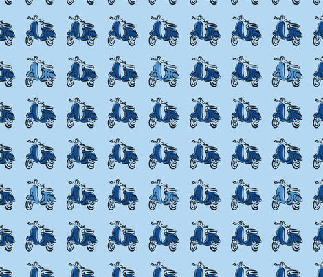 Born to be Mild (blue) fabric by studiofibonacci on Spoonflower - custom fabric