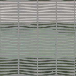 Stripes_Green on Grey