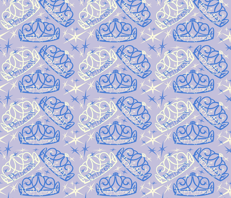 tiara in blue fabric by twobloom on Spoonflower - custom fabric