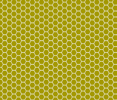honeycomb wasabi and white fabric by ninaribena on Spoonflower - custom fabric
