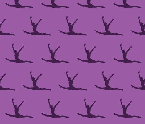Gymnast fabric by blue_jacaranda on Spoonflower - custom fabric