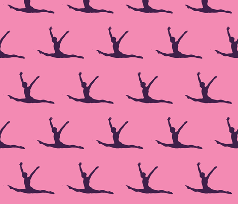 Gymnast pink fabric by blue_jacaranda on Spoonflower - custom fabric