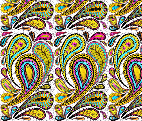 paisley fabric by chelmers on Spoonflower - custom fabric
