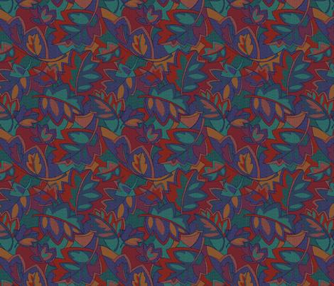 Pressed Leaves, Bright fabric by jane_kriss on Spoonflower - custom fabric