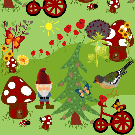 Gnomeville fabric by paragonstudios on Spoonflower - custom fabric